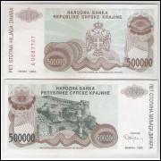Bósnia-Herzegovina (Knin) - 500000 Dinara, 1993, s-fe.