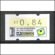 SE-006 - 1994 - Semi-autômato da 46a Feira Internacional do Livro - Frankfurt , valor R$ 0,84, novo.
