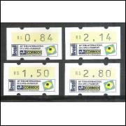 SE-006+6A+6B+6C - 1994 - 46a Feira Internacional do Livro, valores R$ 0,84 - 1,50 - 2,14 e 2,80.