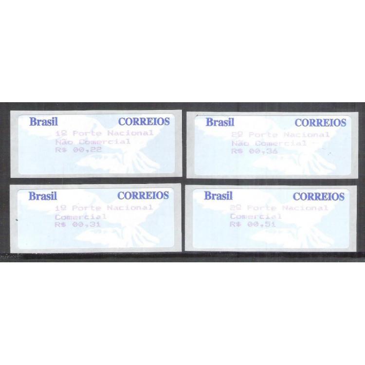 SE-007-10 - 1997 -Pomba Branca valores R$ 00,22 - 00,31 - 00,36 e 00,51.