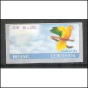 SE-022 - 2001 - Ararajuba, valor R$ 0,55, novo.