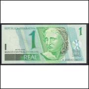 C254 - 1 Real, 2003, Bandeira, AC, ´´ULTIMA SÉRIE: 3995 - Palocci e H. Meirelles, fe. Beija Flor.
