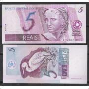 C275 - 5 Reais (bandeira), BC, 2003, Antônio Palocci Filho e Henrique Meirelles, fe. Garça.