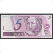 C276 - 5 Reais, BC, 2006, PRIMEIRA SÉRIE: 5159, Guido Mantega e Henrique Meirelles, fe. Garça.