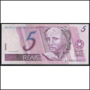 C277 - 5 Reais, BC, 2006, PRIMEIRA SÉRIE: 7388, Guido Mantega e Henrique Meirelles, fe. Garça.