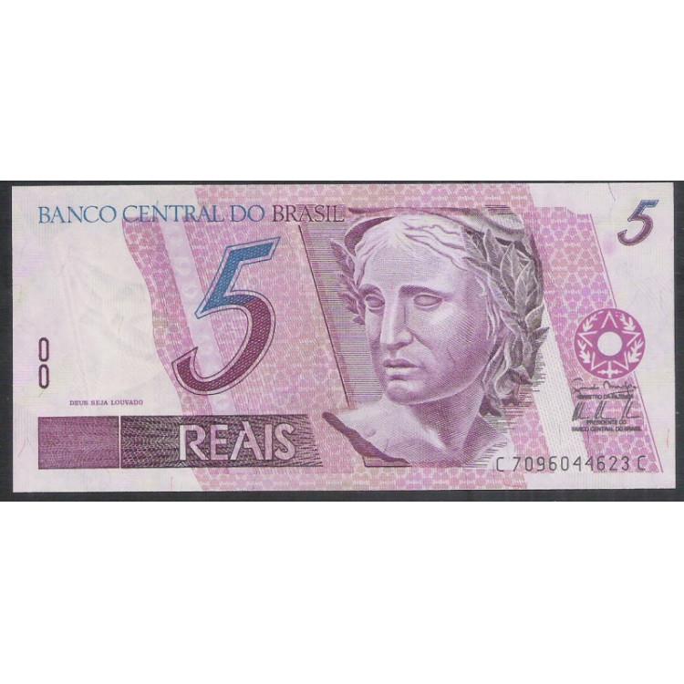 C279 - 5 Reais, CC, 2009, PRIMEIRA SÉRIE: 7096, Guido Mantega e Alexandre Tombini, fe. Garça.