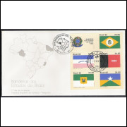 FDC-272- 1982 - Bandeiras: Ceará, Espírito Santo, Paraíba, Rio Grande do Norte e Rondônia.