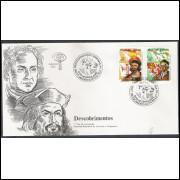 FDC-323- 1984 - Descobrimentos. Personalidades: Pedro Álvares Cabral e Cristovão Colombo.