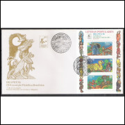 FDC-685 - 1996 - Brapex - Exposição Filatélica. Lendas Populares. Folclore, literatura.