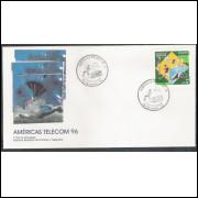 FDC-677 - 1996 - Américas - Telecom 96. Esporte.
