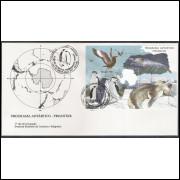 FDC-493 - 1990 - Programa Antártico Brasileiro. Proantar. Fauna.