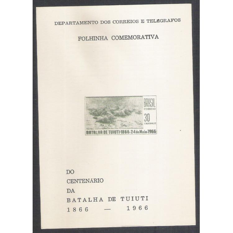 FO27 - 1966 Folhinha comemorativa do Centenário da Batalha de Tuiuti. 1866-1966.