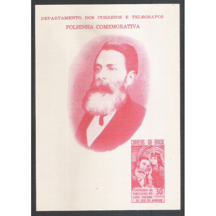 FO20 - 1965 Folhinha: Centenário da Publicação do Livro Iracema de José de Alencar. Literatura.