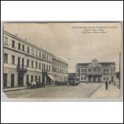ctb04 - Postal Curityba, Praça Euphrasio Correia - Estação da E. de Ferro - Hoteis Tassi e Roma