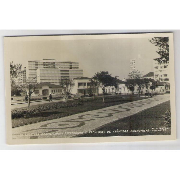 ctb05 - Foto Postal Colombo, 10-Curitiba-Largo Bitencourt e Faculdade de Ciências Economicas.