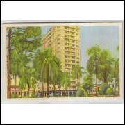 ctb08 - Cartão postal antigo, 1959, Curitiba - 20 - Praça Ozório. Editor: Casa dos Carimbos