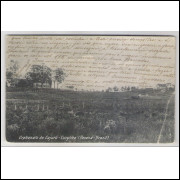 ctb14 - Cartão postal circulado 1909, Curityba - Orphanato do Cajurú.