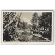 ctb17 - Cartão postal antigo, 1945,  Curitiba - Praça Carlos Gomes.