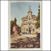 ctb20 - Cartão postal antigo, Curitiba, Prefeitura Municipal. Carros. Edição Livrarias Ghignone.
