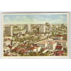 ctb24 - Cartão postal antigo, Curitiba - Vista Parcial. Livrarias Ghignone.