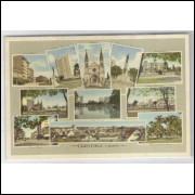 ctb25 - Cartão postal antigo, 11 vistas de Curitiba -  Livrarias Ghignone.
