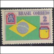 CO209A - 1945 - Cr$ 2,00 da série FEB, SEM A COBRA.