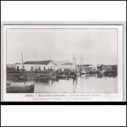 joi10 - Postal antigo - Joinville - SC, Barcos. Édition de la Mission de Propagande.