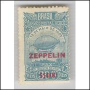 1931 - Z-11 - Serviço Aéreo Zeppelin, 5$000 sobre 300 Réis. Novo sem goma. *