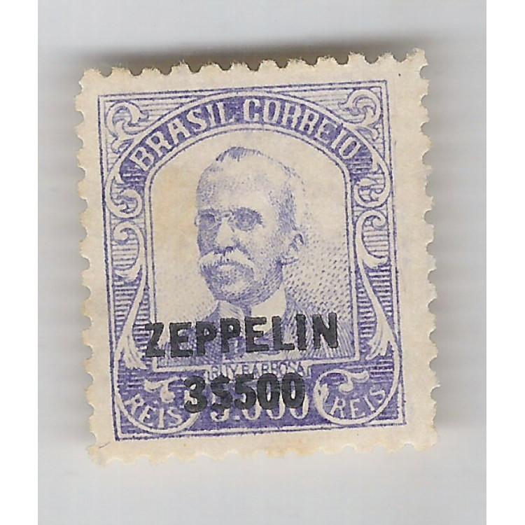 1932 - Z-12 - Serviço Aéreo Zeppelin, 3$500 sobre 5000 Réis. Novo sem goma. * Rui Barbosa.