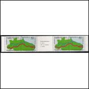 1971 - C-699-70 - Transamazônia: A Pátria nela se completa e realiza. Tira de quatro selos.