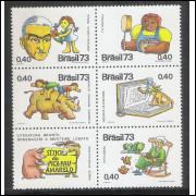 1973 - C-806-10 - Literatura Infantil - Monteiro Lobato. Sítio do Pica-Pau Amarelo. Sextilha.