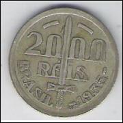 1935 - 2000 Réis, prata, mbc. Caxias.