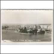 re07 - Cartão postal antigo, Vista Panorâmica da cidade de Recife - Pernambuco.