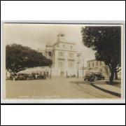mc02 - Cartão postal antigo, Maceió, Palácio Bela Vista. Carros.