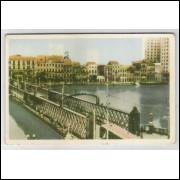 re22 - Cartão postal antigo (1959), Ponte da Bôa Vista, Recife - Pernambuco.