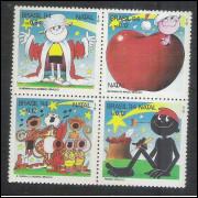 1994 - C-1928-31 - Natal. Menino Maluqinho-Bichinho da Maçã-Turma do Pererê-Pererê. Ziraldo.Infantil