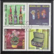 2003 - C-2519-22 - Reciclagem - Artesanato. Vidro, Papel, Plástico e Metal.