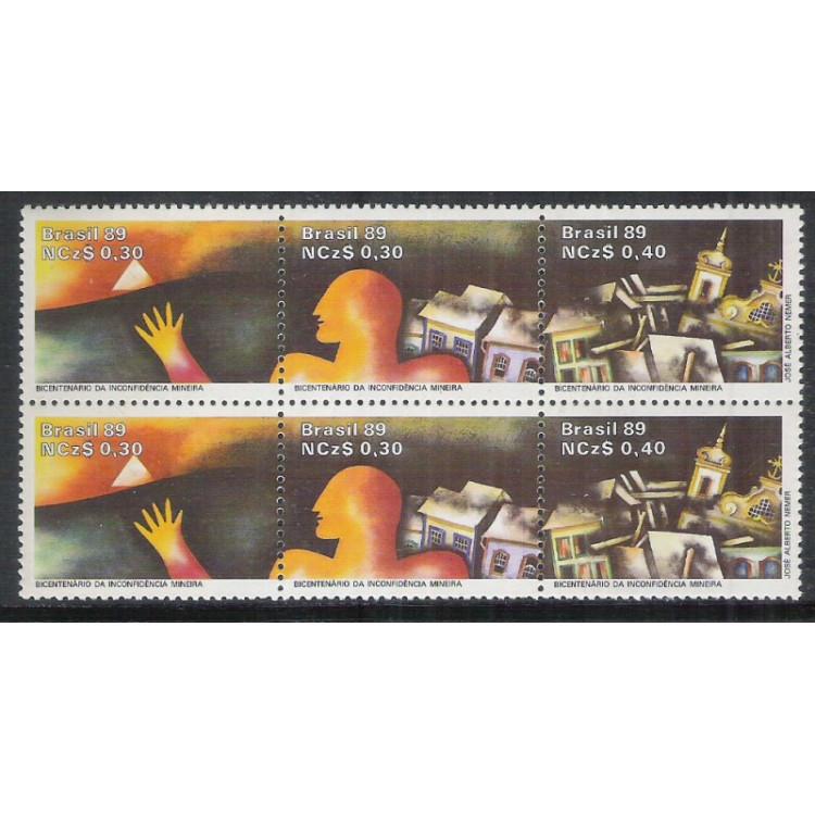 1989 - C-1627-29 (duplo) - Bicentenário da Inconfidência Mineira.