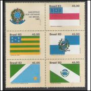 1983 - C-1363-67 - Bandeiras: Amazonas - Goiás - Rio de Janeiro - Mato Grosso do Sul e Paraná.