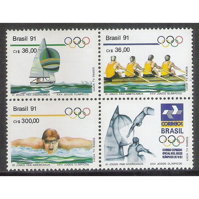 1991 - C-1727-29 - XI Jogos Panamericanos. Vela, Remo e Natação. Olimpíadas-Espanha.