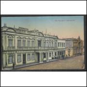rg01 - Cartão postal antigo, Rio Grande - Intendencia. R.Strauch, Livraria, Rio Grandense.