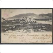 GR02 - Cartão postal antigo, circulado em 1905, Guarujá. J. Bidschovsky, Phot. Santos.