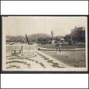 SN03 - Cartão postal antigo, circulado em 1946, Santos, Praia do Gonzaga.