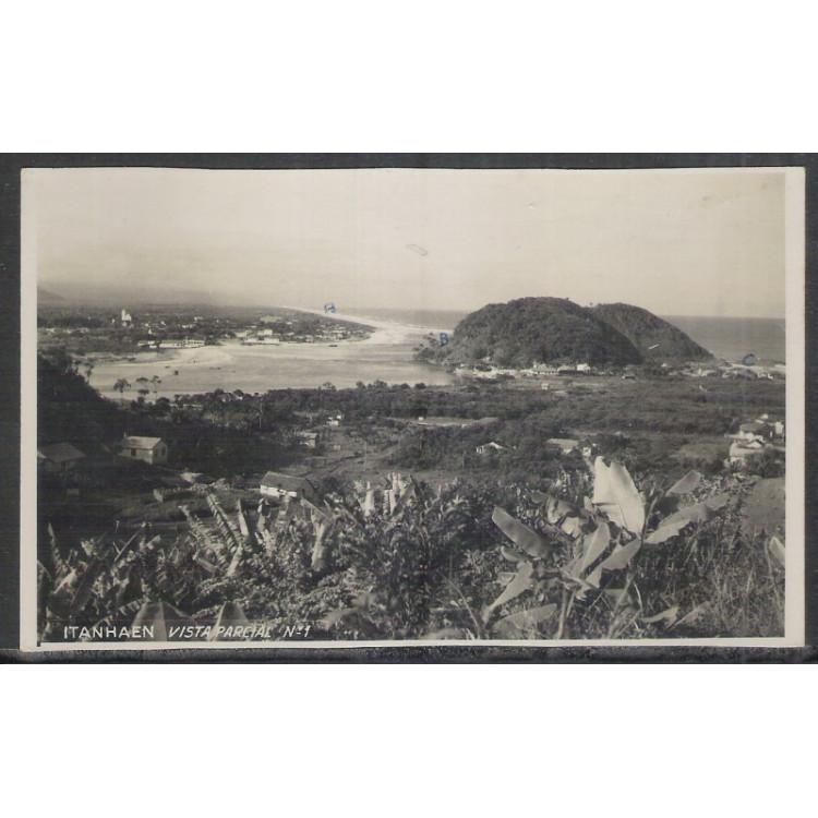 IT01 - Cartão postal antigo, Itanhaen, vista parcial No 1.