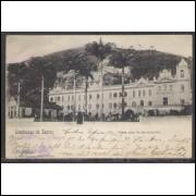 SN09 - Cartão postal antigo, Santos, Santa Casa de Misericordia. J. Bidschovsky, Phot., Santos.