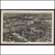 SP04 - Cartão postal antigo, circulado em 1931, São Paulo, Parque Anhangabahú.