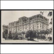 SP05 - Cartão postal antigo, circulado em 1928, São Paulo, Hotel Esplanada