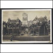 SP35 - Cartão Postal antigo, Parque Anhangabahú, São Paulo.