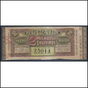 Bilhete da Loteria Federal, extração de 21 Maio 1952.