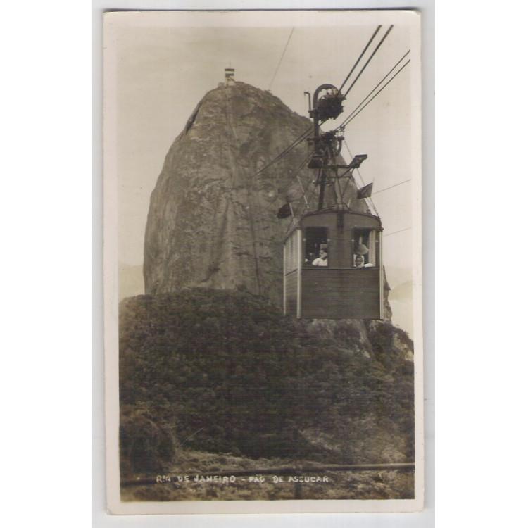 RJ36 - Cartão postal antigo, Pão de Açúcar. Rio de Janeiro. Wessel